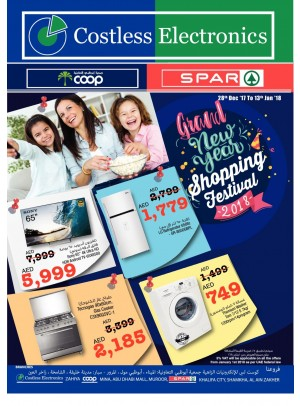Costless Electronics - Grand New Year Shopping Festival - Adcoops & Spar