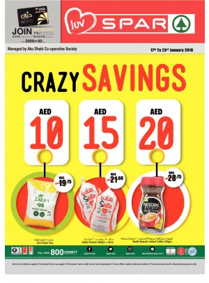 Wonder Savings 10, 15, 20 AED - Spar Branches