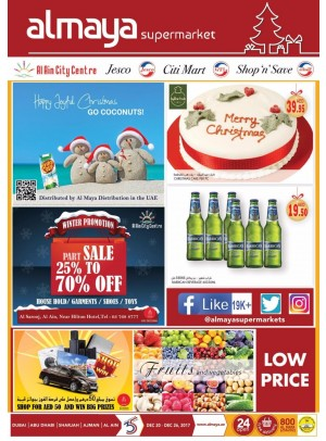 Al Maya Weekly Offers - Part Sale from 25 to 70% Off