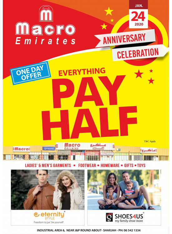 Anniversary Celebration Offers - Macro Emirates, Sharjah