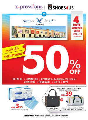 Everything 50% OFF - Safeer Mall Ajman