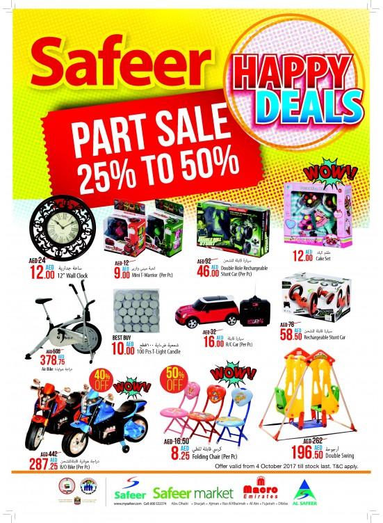 Happy Deals - Part sale 25% To 50%