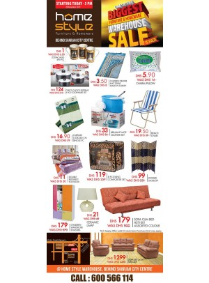 The Biggest Furniture & Home Ware Sale - Behind Sharjah City Center