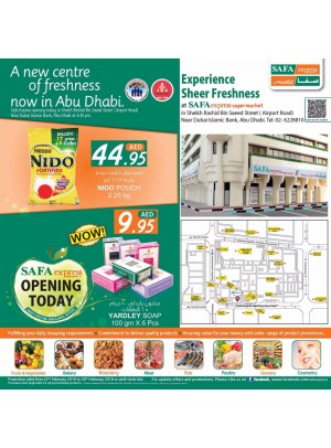 Inaugural Offers - Safa Express Supermarket Airport Road