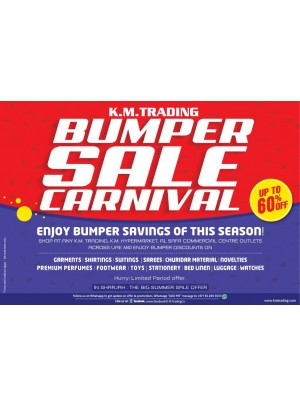 Bumper Sale Carnival - Up To 60% Off
