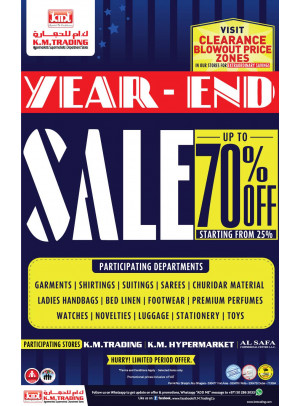 Year End Sale Up To 70%
