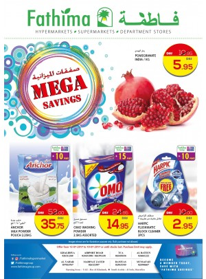 Mega Savings- Abu Dhabi and Al Ain - Al Yahar Branches