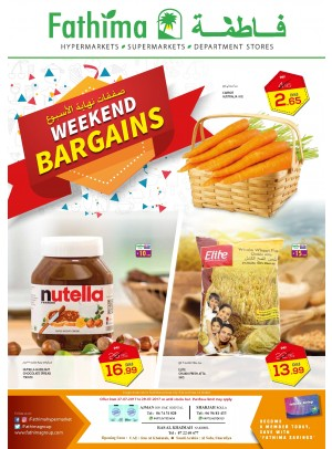 Weekend Bargains - Ajman, Sharjah and Rak Branches