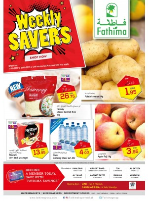 Weekly Savers - Abu Dhabi and Al Ain - Al Yahar Branches