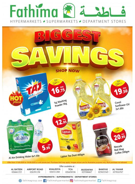 Biggest Savings - Abu Dhabi & Al Yahar