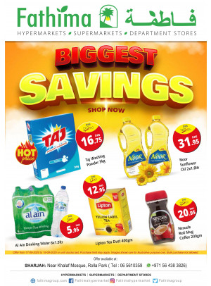 Biggest Savings - Sharjah