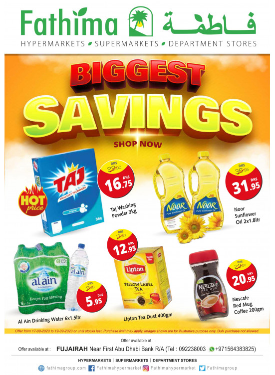 Biggest Savings - Fujairah
