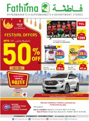 Festival Offers Up to 50% Off - Ras Al Khaimah Branches