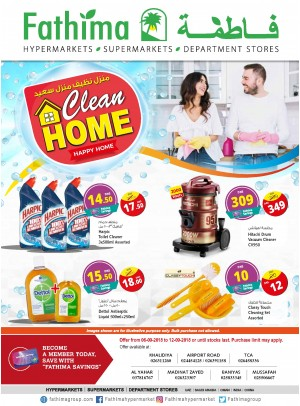Clean Home Offers - Abu Dhabi and Al Yahar Branches