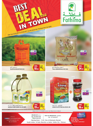 Best Deal In Town - Sharjah and Ras Al Khaimah