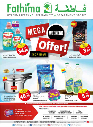Mega Weekend Offers - Abu Dhabi and Al Yahar Branches