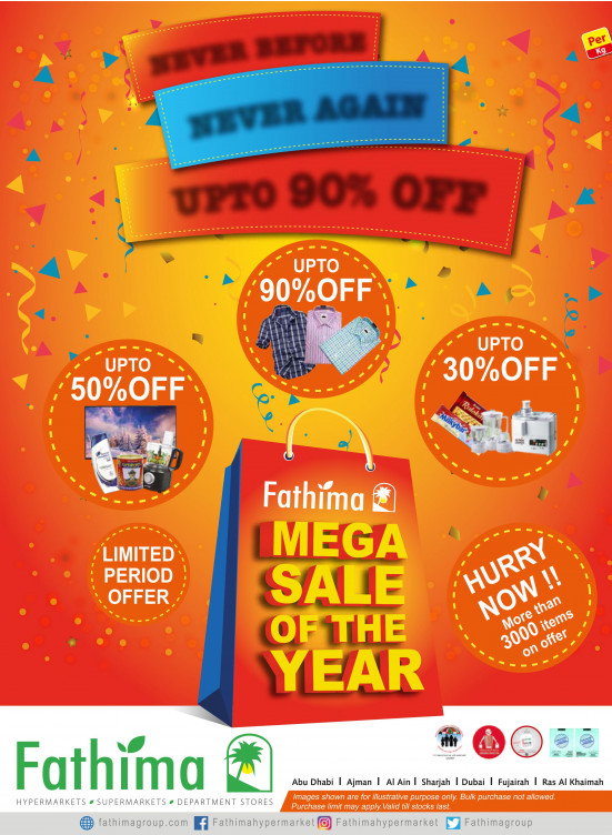 Mega Sale of The Year - Abu Dhabi and Al Yahar Branches