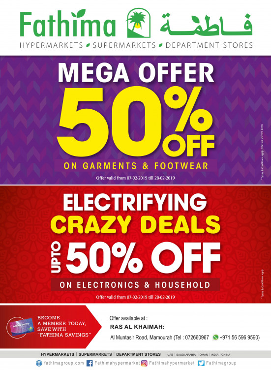 Mega Offers & Electrifying Crazy Deals - Ras Al Khaimah