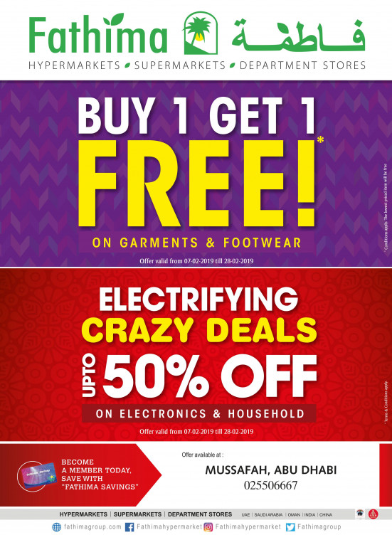 Mega Offers & Electrifying Crazy Deals - Mussafah