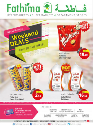 Weekend Deals - Abu Dhabi and Al Yahar Branches