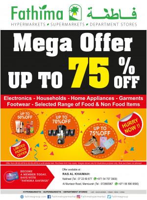 Mega Offer Up To 70% Off - Ras Al Khaimah