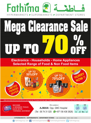 Mega Clearance Sale - Ajman