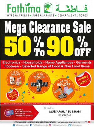 Mega Clearance Sale - Mussafah