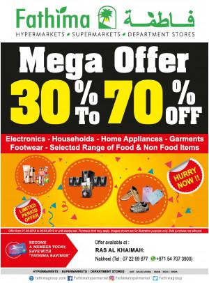 Mega Offer 30% to 70% OFF - Al Nakheel, Ras Al Khaimah