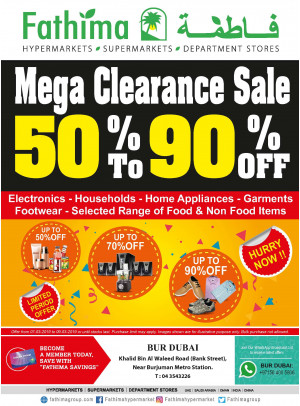 Mega Clearance Sale - Bur Dubai