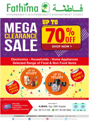 Mega Clearance Sale - Ajman