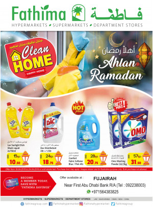 Ahlan Ramadan & Clean Home Offers - Fujairah