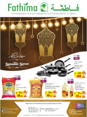 Ramadan Offers - Sharjah & Rak Branches