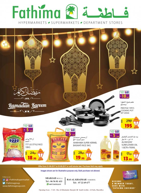 Ramadan Offers - Sharjah & Rak Branches