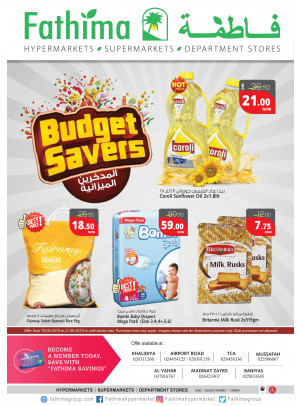 Budget Savers - Abu Dhabi and Al Yahar Branches