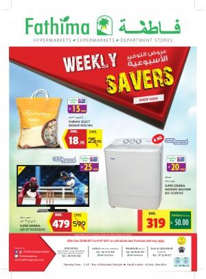 Weekly Savers - Bur Dubai, Ajman, Sharjah & Rak Branches