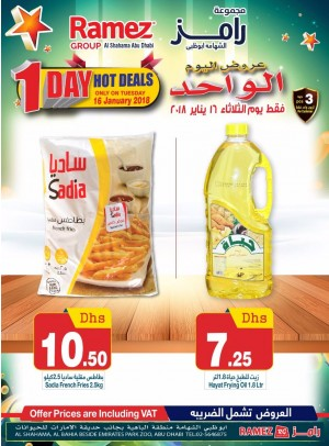 One Day Hot Deals - Abu Dhabi Branch
