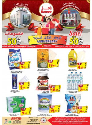 Anniversary Offers - Mega Sale Up To 50% - Ajman & Sharjah Branches