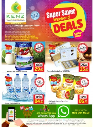 Super Savers Weekend Deals