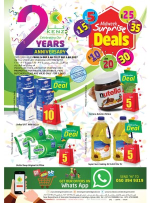 Midweek Surprise Deals - Kenz 2 Years Anniversary Offers