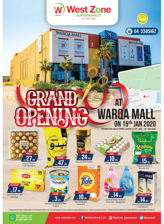 Grand Opening Offers - Warqa Mall