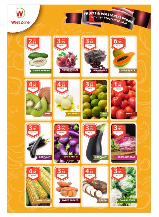 Fruits, Vegetables & Seafood Promo