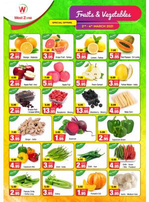عروض الخضروات والفاكهة