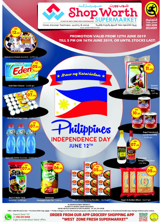 Philippines Independence Day Offers - Al Muraqqabat Branch