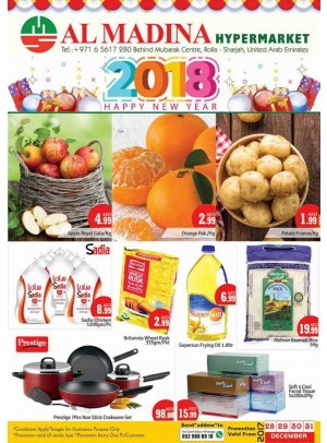 Happy New Year 2018 Offers - Rolla, Sharjah Branch