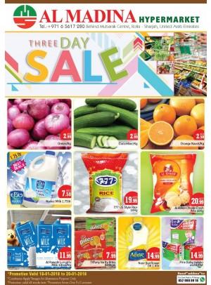 Three Days Sale - Rolla, Sharjah Branch