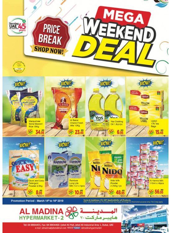 Mega Weekend Deals - Al Madina Hypermarket 2 Jebel Ali