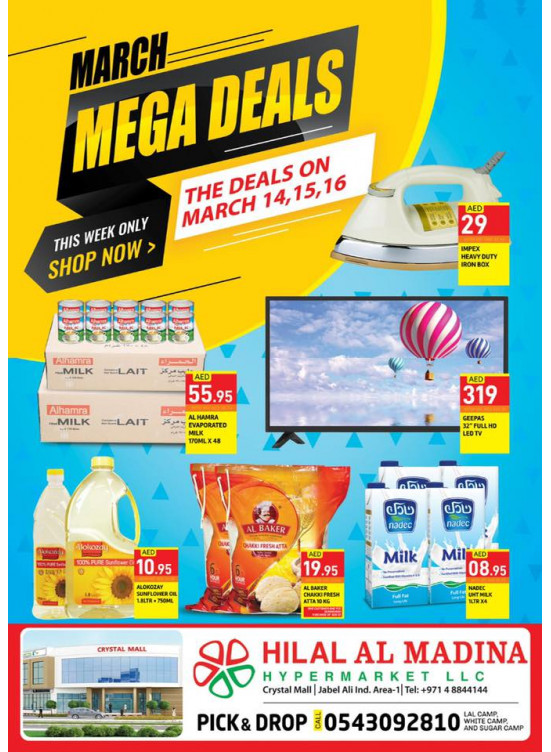 March Mega Deals - Crystal Mall Jebel Ali1