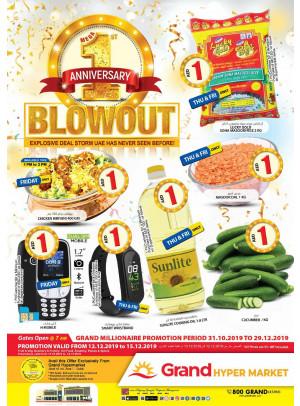 1st Anniversary Blowout - Grand Hypermarket Jebel Ali