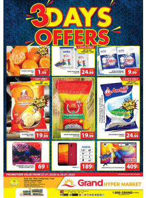 3 Days Offers - Grand Hypermarket Jebel Ali