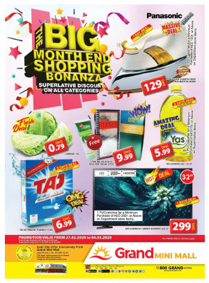 The Big Month End Shopping Bonanza - Grand Mini Mall